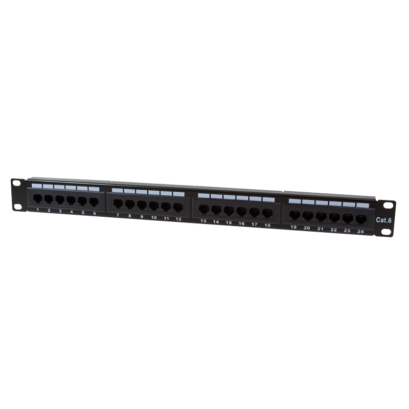 logilink produkt patchpanel 19 cat6 24 port ungeschirmt schwarz. Black Bedroom Furniture Sets. Home Design Ideas